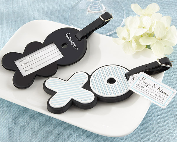 wedding favor Hugs & Kisses From Mr. & Mrs. X O Luggage Tags party gifts 40pcs/lot
