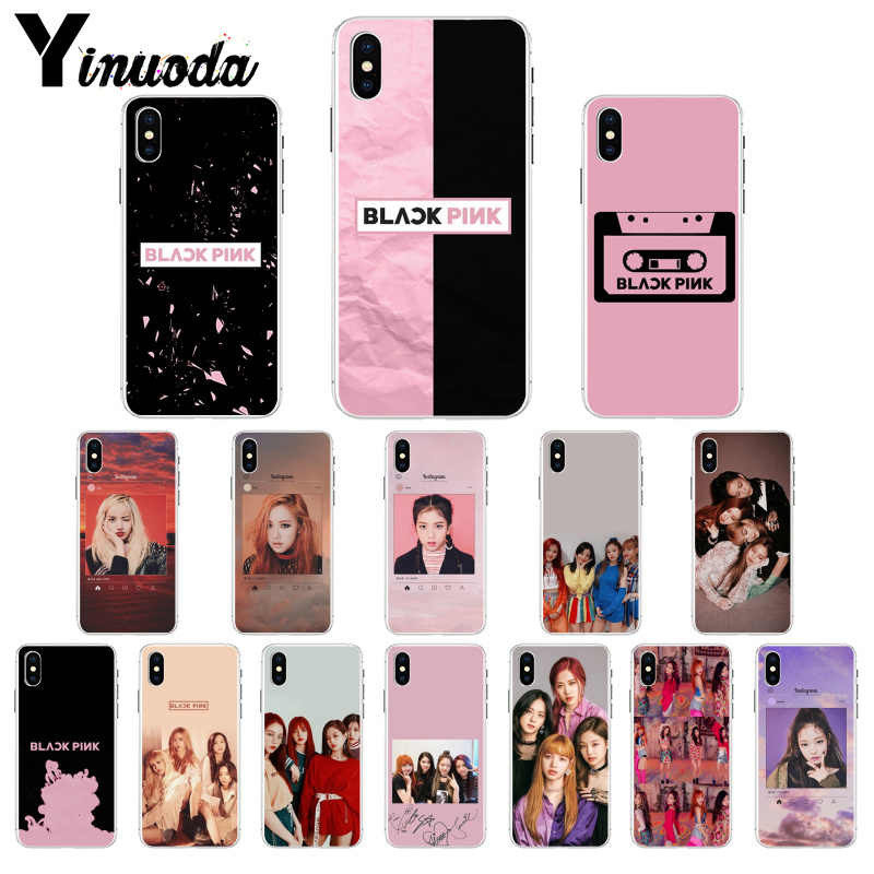 Able Yinuoda Black Pink Blackpink Kpop Newly Arrived Cell Phone Case For Apple Iphone 8 7 6 6s Plus X Xs Max 5 5s Se Xr Cover Quality And Quantity Assured Half-wrapped Case Phone Bags & Cases