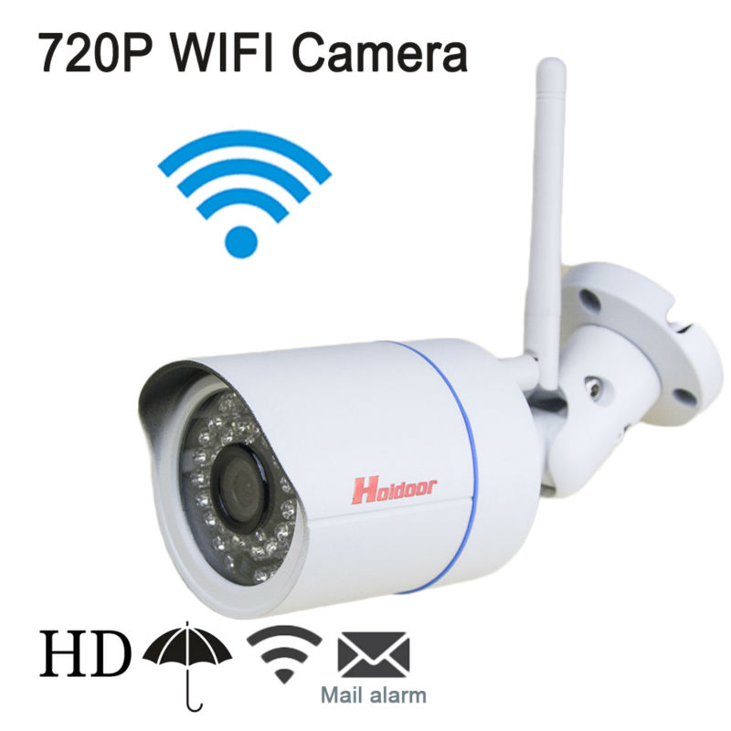 WiFi IP Camera Outdoor IP66 1.0MP Megapixel HD CCTV Wireless Bullet Surveillance Security Sysytem Home Support 64G Micro SD Car wistino cctv camera metal housing outdoor use waterproof bullet casing for ip camera hot sale white color cover case