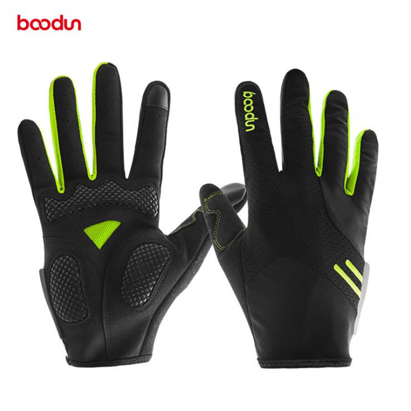 Boodun Full Finger Touch Screen Cycling Gloves MTB Bike Bicycle Gloves B Outdoor Sport Fitness Gloves Bike Accessories