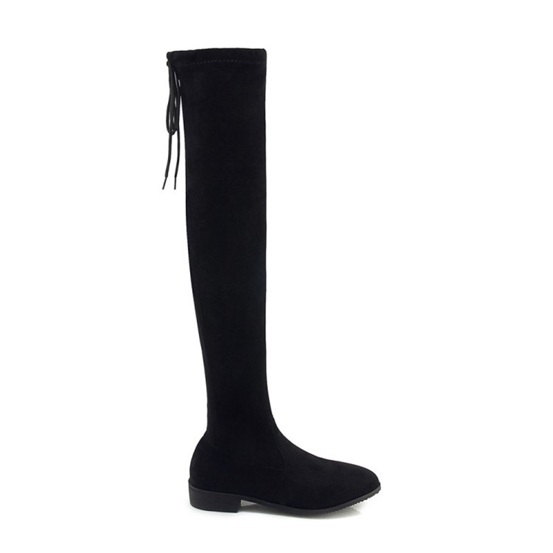 Caballero 48 Tamaño Femmes Moto Moda Más Mujer 34 Negro Botas Otoño Invierno Zapatos De Casual Marca w4EYq