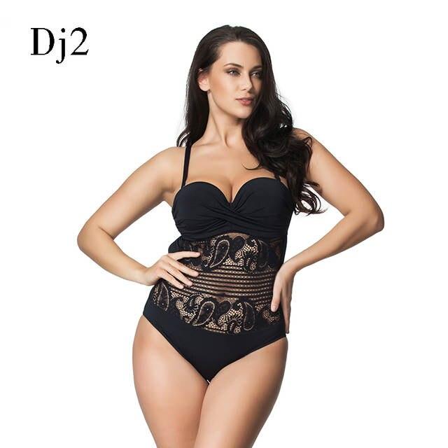 4988e2fdc2ab Venda Hot Sexy Alta Corte Maiô One Piece Swimwear Mulheres plus Size  vestido de Uma Peça de Renda Preta Praia Maiô Brasileiro Monokini em Ternos  do corpo de ...
