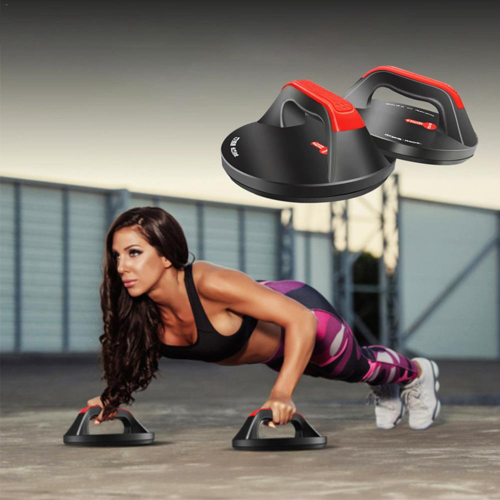 Push Up Bars Non Slip Pushups Design Wide Handle Comfort Grips Workout Equipment Rotating Circular Push-up Bracket