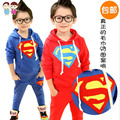 Cotton Terry 2014 children during the spring and Autumn New Korean children sweater coat boy Superman suit for children