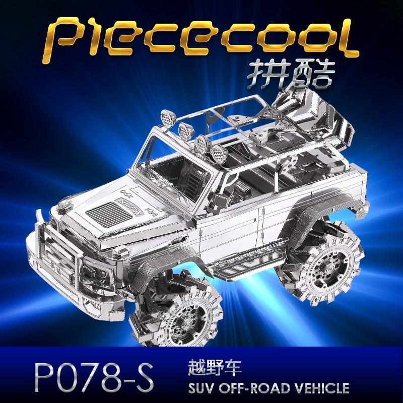 SUV terreinwagen P078-S Piececool 3D metalen model DIY lasersnijden - Bouw en constructie