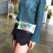 Beach Waist Bag Holographic Women Travel Pouch Belt Cute Transparent Jelly Waterproof Crossbody Bag Chest Bag Handbag heuptas