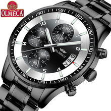 OLMECA Multi-function Mens Watch Business Sports Quartz Waterproof Luminous Casual
