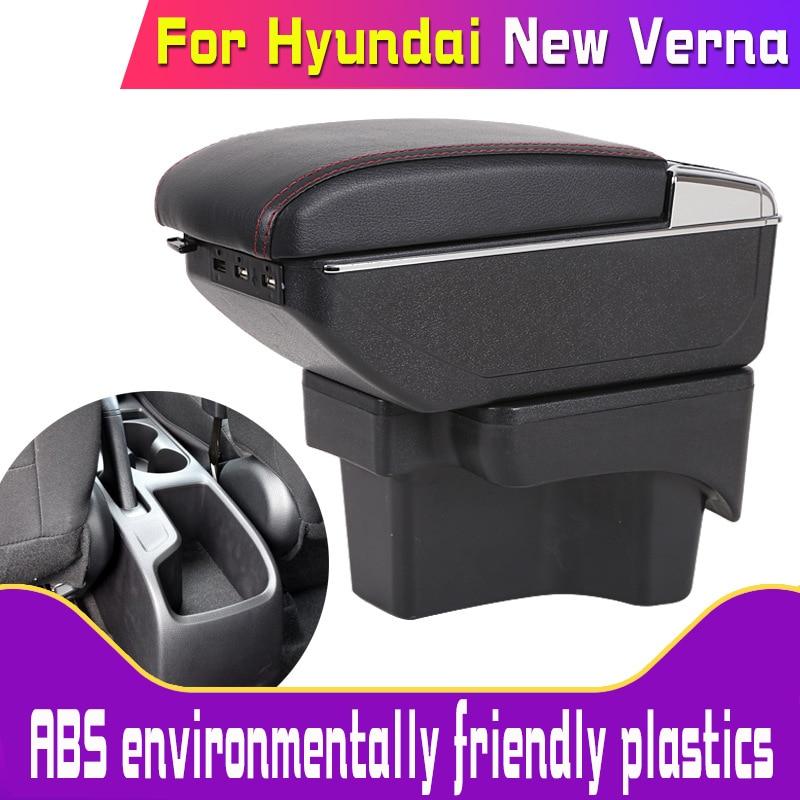 Leather Car Armrest for  Hyundai verna New