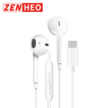 ZENHEO Wired Earphone USB Type-C With Mic Wire Control for Android Hifi Sound Headset or Xiaomi Huawei Auriculares Earbuds