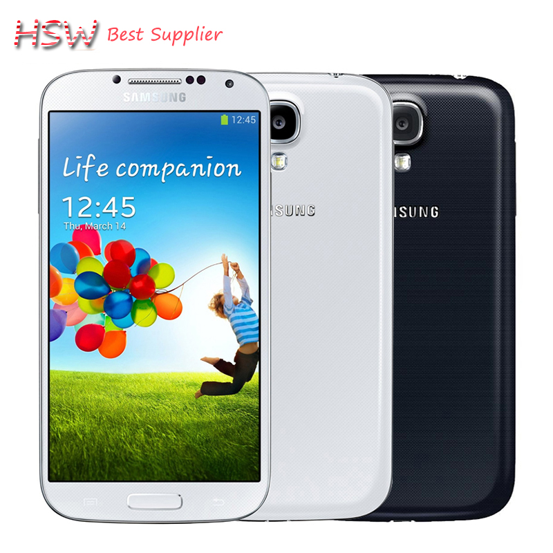 100% Original Samsung Galaxy S4 I9500 Mobile Phone Quad Core 2GB RAM 16GB ROM 5.0