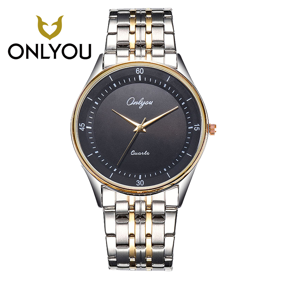 ONLYOU Business Casual Stainless Steel Watch Men Watches Ladies Dress Watch Quartz Wristwatches Lover Watch reloj mujer hombre onlyou luxury brand fashion watch women men business quartz watch stainless steel lovers wristwatches ladies dress watch 6903