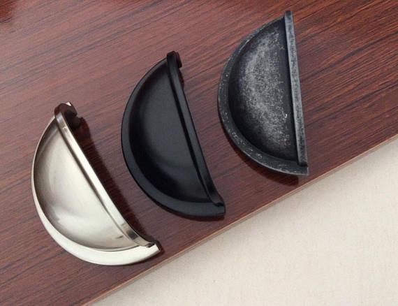 Retro tigela gaveta puxar cômoda puxa puxadores alças concha copa alças/armário botões de cozinha ferragem 76mm
