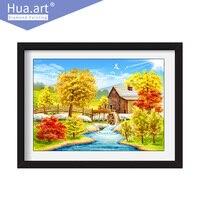 Hua Art Diamonds Painting Landscape Cross Stitch Full Diamond Romantic Scenery 5D Diamond Painting DIY Home