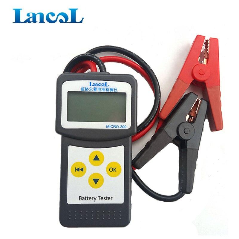 LANCOL MICRO-200 de batería de coche de 12 V Aumotive vehículo coche nuevo probador de la batería Auto unidad de medición Multi-idioma
