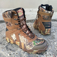 Outdoor Climbing Bionic Camouflage Army Tactical High Boots Desert Jungle Hiking Sport Hunting Antislip Waterproof Training Shoe