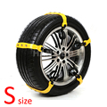 5 Pcs/Lot S size Car Winter Snow Tire Anti-skid Chains Thickened Beef Tendon Vehicles Wheel Antiskid TPU Chain 145-175mm Types