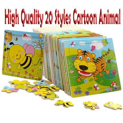 3d Развивающие деревянные игрушки для детей Пазлы Монтессори Обучающие Детские игрушки для детей головоломка Танграм 2018 мультфильм милый
