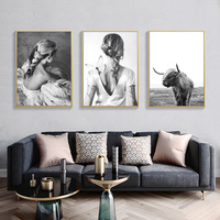 Black And White Nordic Poster Vintage Wall Art Canvas Painting Love Posters And Prints Wall Pictures For Living Room Unframed