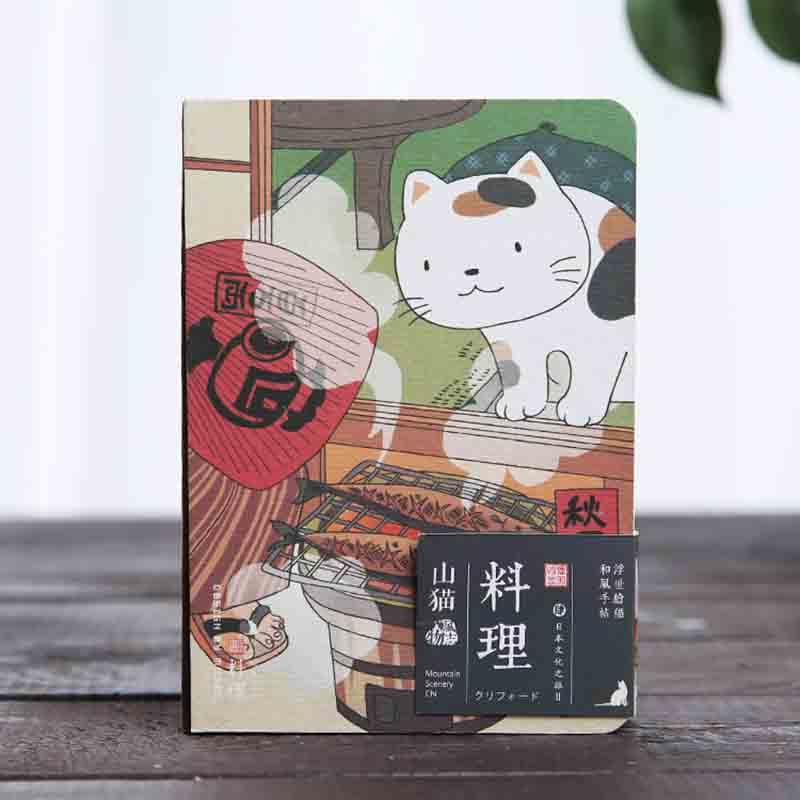 Japanese Cute Cat Notebook Creative Cartoon Hardcover Planner Notepad Bullet Journal Supplies Office Decoration Stationery in Notebooks from Office School Supplies