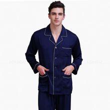 Men's Silk Satin Pajamas Set Multi Colors