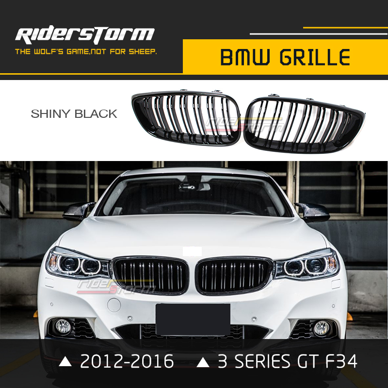 M Style F34 Carbon Grill 3 Series GT Front Kidney Grille Gran Turismo ABS for BMW 320i 330i 340i 2012-2016 Replacement Dual Slat фаркоп aragon на bmw serie 3 f34 gt 2012 тип крюка a г в н 1800 75кг e0800ja