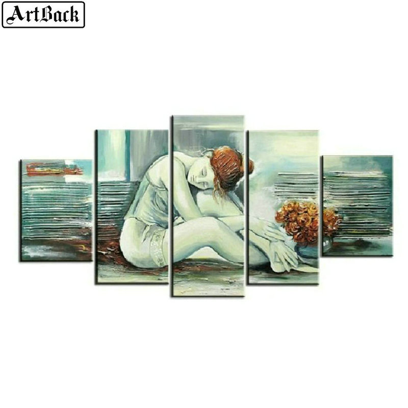 5 spells diamond painting woman pictures full square drill diamond embroidery living room decoration