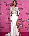2017 taylor blanco opacidad de manga larga vestidos de noche vestidos de la celebridad vestidos de sirena vestido de noche kadisua 27