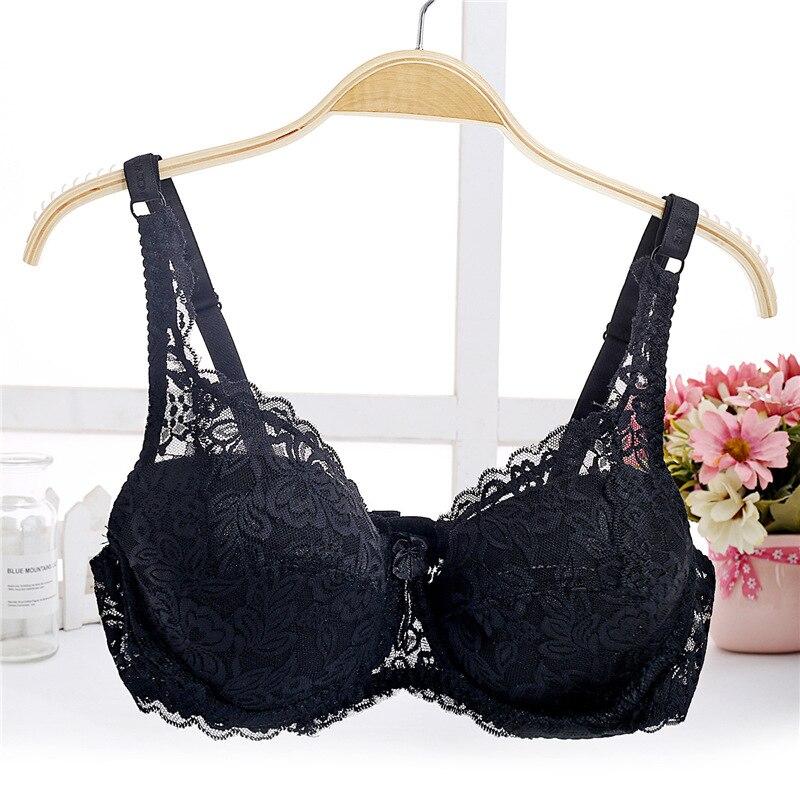 Fashion spring summer Bra Seamless Deep V Lace Girl Bra For Women gather breast push up bra for girl 32 34 36 38 40