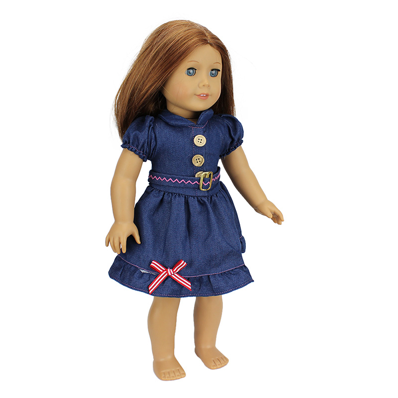 New Arrival 2016 Fashion Jean Skirt For 18 inch American Girl font b Doll b font