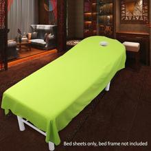 Косметический салон простыни спа массаж лечение кровать стол покрытие простыни с отверстием