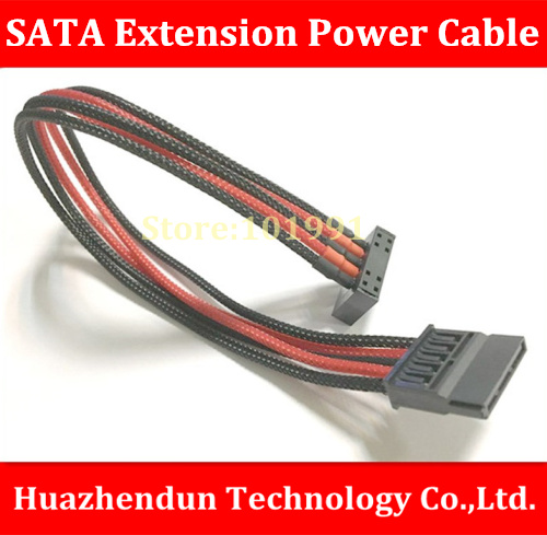 High Quality Customed-made Cable   SATA Power Extension Cable  30CM   SATA Power Supply Extension Cord   Packet  Net high quality atx 24pin motherboard power extension cable 30cm four colors for your choice 18awg 24pin extension cable
