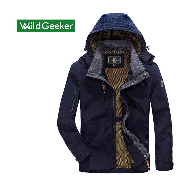 Wildgeeker Men s Jackets 2017 Spring Autumn Stand Collar Windpoof Waterproof Casual Solid Long Sleeve Men