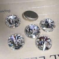 Crystal Glass 3200 Rivoli Garment Rhinestones Flat back 2 Holes Glass Sew On Stones Crystal Strass For Clothes Apparel Crafts