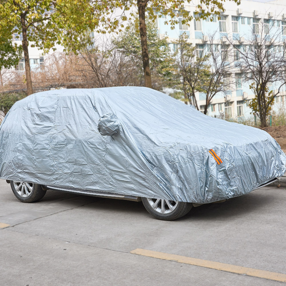 Indoor Outdoor Full Car Covers Silver Sun UV Snow Dust Resistant Protection Car Accessories