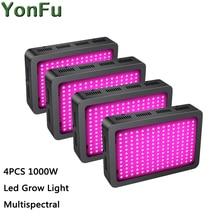 цена на 4pcs 1000W Full Spectrum Led Grow Light 3030SMD Multispectral for Medical Plants Veg&Flower Hydroponics Indoor Greenhouse Tent
