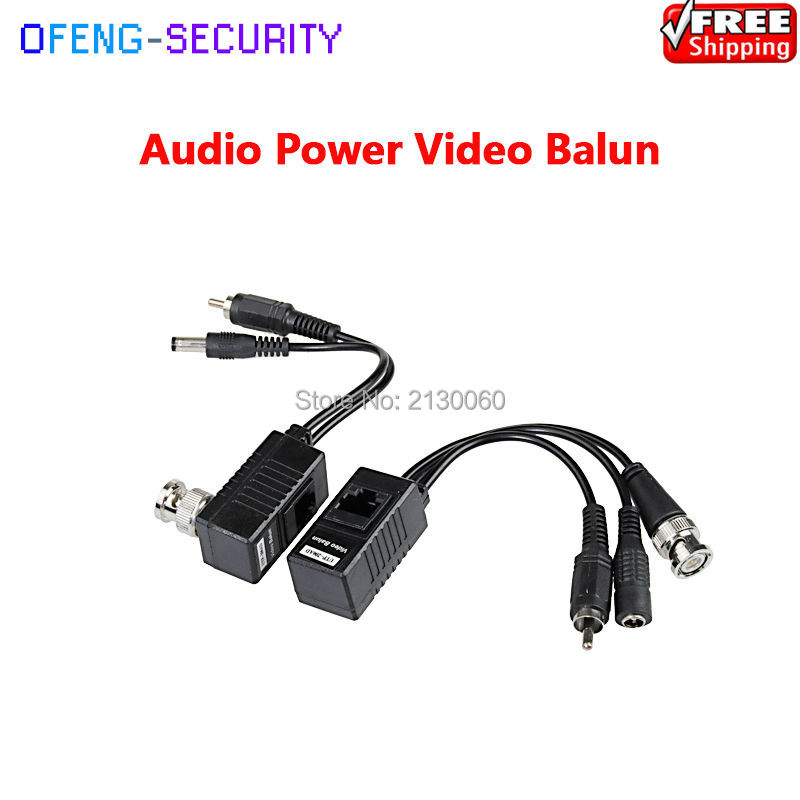 5pcs/lot Video Balun RJ45 Video Balun Twisted-pair Transmission CCTV Camera Solution Audio Video And Power Over CAT5/5E/6 Cable