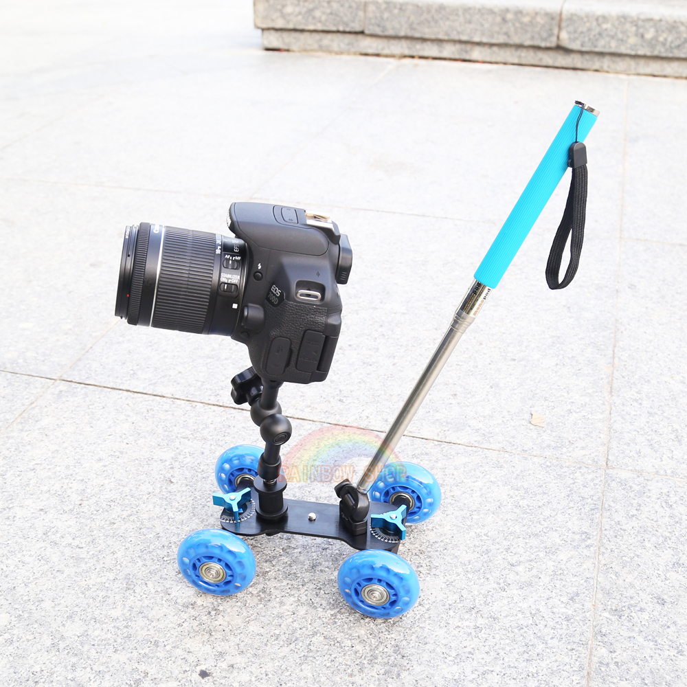 3in1 Table photography dolly + 7 inch Magic arm + Handheld lever monopod DSLR Rig Camera movie kit D7100 750D 70D Accessories