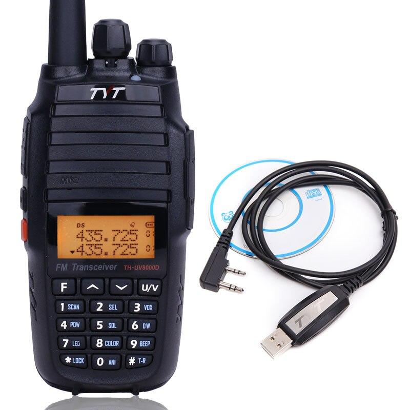 TYT TH-UV8000D 10 Watts Haute Puissance Talkie Walkie Croix Bande Répéteur THUV8000D Double Bande radio amateur 10 KM Ham Two Way CB Radio