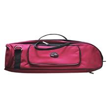 HOT Good Deal Brand New Brass Wind Musical Trumpet Soft Case Canvas Gig Bag Red
