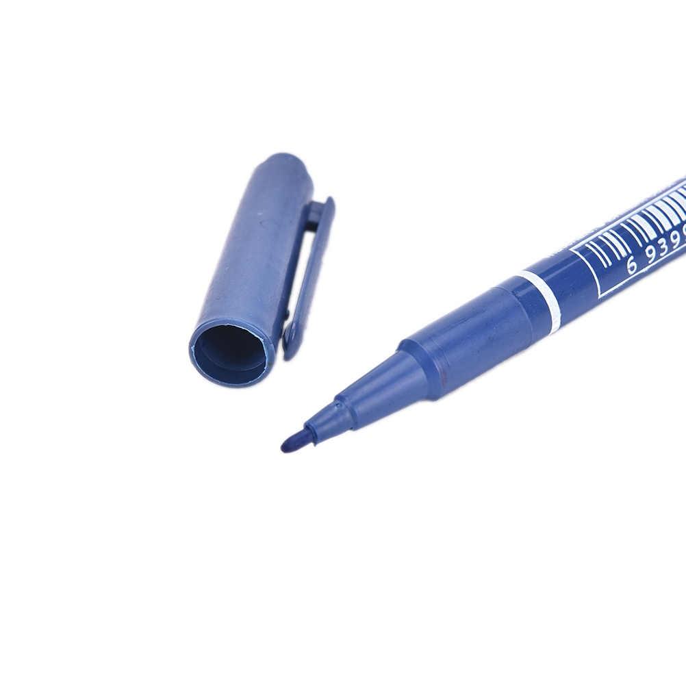 1PC kreatywny podwójny marker permanentny czarny tusz długopisy metaliczny CD ceramiczne szkło plastikowe drewno papier marker do malowania