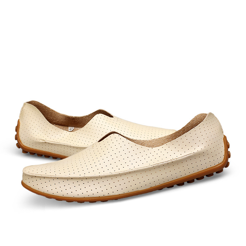 Men PU Luxury Brand Leather Loafers Casual Shoes Slip-on Flats Mens Driving Beach Sand Shoes Men Walking Tenis Masculino A081801