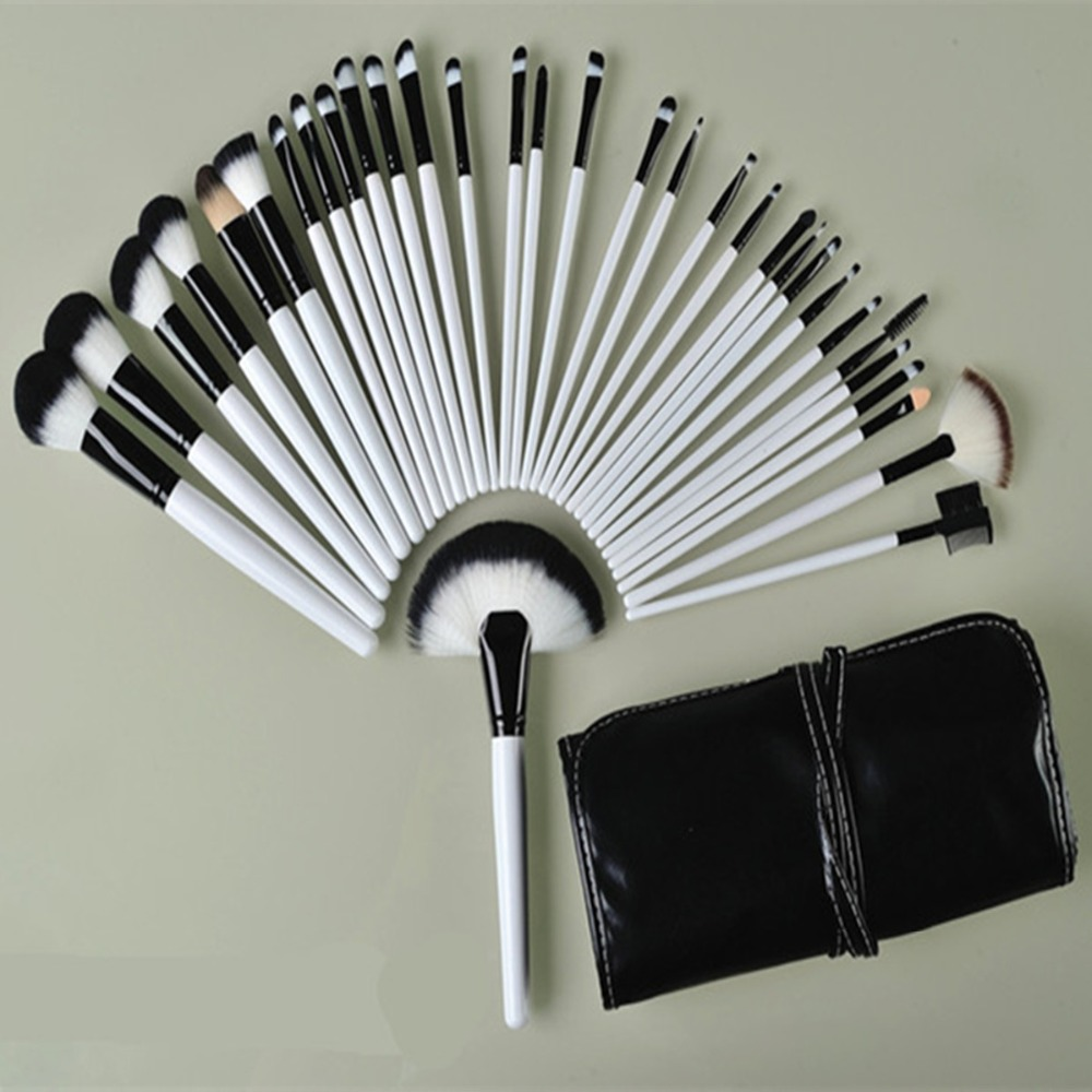 32Pcs Makeup Brushes Set Synthetic Professional Soft Cosmetics Make Up Brush The Best Quality Kabuki Tools EyeBrow Powder Brush best makeup pen machine eyebrow make up