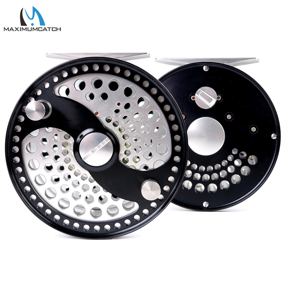 Máxima captura CLA 3-10WT clásico carrete de pesca con mosca Clicker Sistema de arrastre de disco CNC máquina de corte T6061 carrete de aluminio mosca