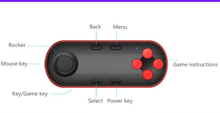 Bluetooth 3.0 Remote Controller Wireless Shutter Game Gamepad For 3D VR Glases Shinecon TV Box iPhone IOS Samsung Android(14)
