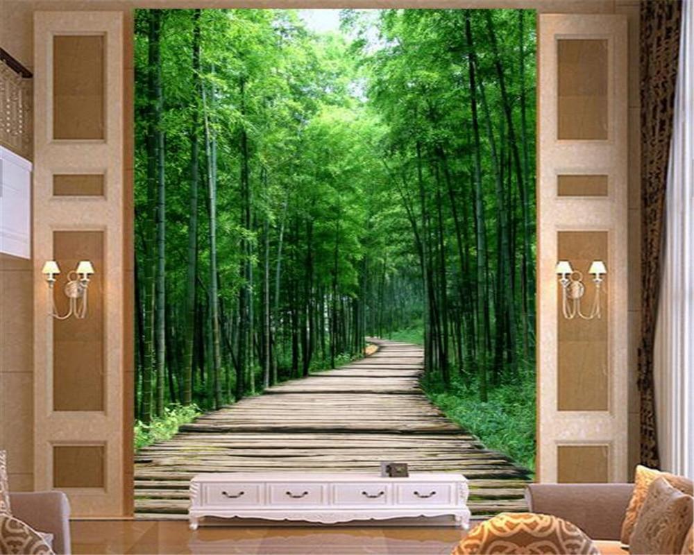 Beibehang d tapete dekorative malerei d mysterious klares bambus