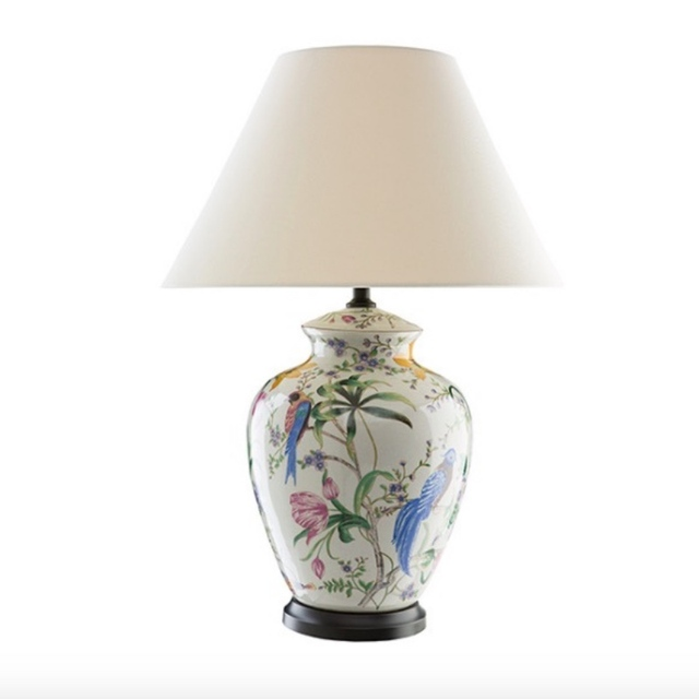 High End Europe Classical Hand Painted Colorful Ceramic Led E27 Table Lamp  For Living Room Bedroom