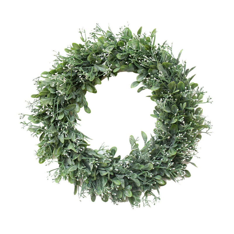 Topiary Wreaths Green Leaves Artificial Door Wreath Meadow Flower Outside Decor