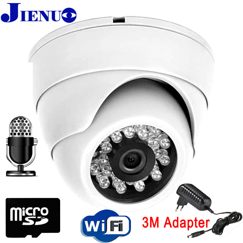 IP Camera wifi 720P 960P 1080P Security indoor Video Surveillance wirless Dome CCTV Nightvision Home Camera SD Card Onvif JIENU hd 720p owlcat onvif wifi dome ip camera home video surveillance smart dome ir cctv network security camera support 128g sd card