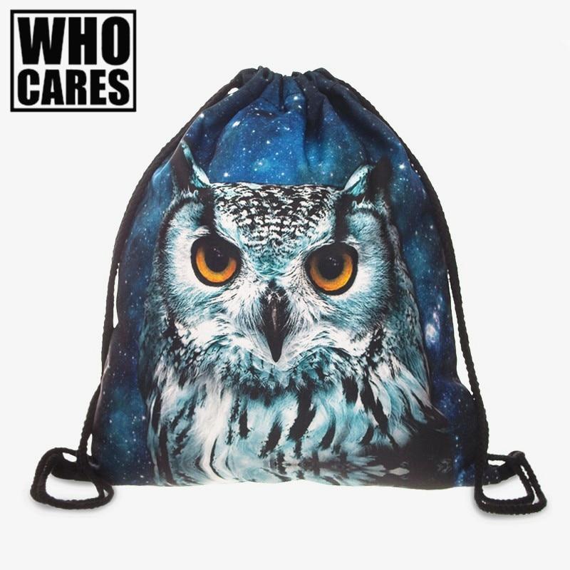 Animal Prints 3D Printing Women Backpack 2017 New Fashion Hot Womens Backpacks  Bags Drawstring Bag school bags for teenagers