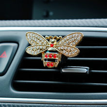 Car styling Bling Little Bee Auto Bevanda Rinfrescante di Aria Auto Profumo di Cristallo 100 Donne Originali aroma di profumo Auto Decorazione Ornamento(China)